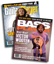 free guitar player and bass player magazines