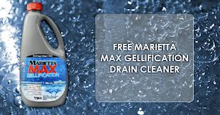 free marietta max gellification drain cleaner
