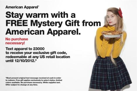 free american apparel gloves gift
