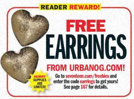 free earrings from 17