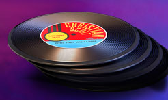 free record coasters from black and mild