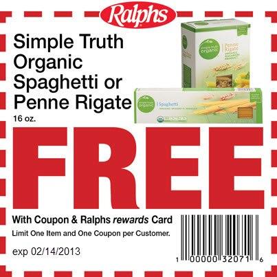 free simple truth organic pasta