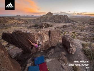 free rock climbing poster