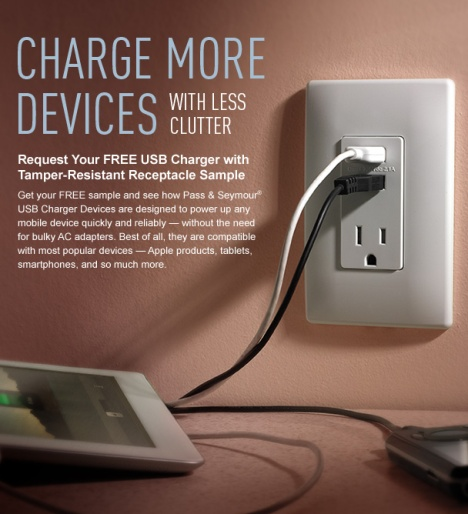 free usb charger sample