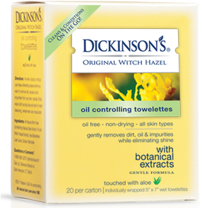 dickinsons witch hazel oil controlling towlettes