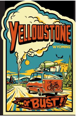 free yellowstone sticker