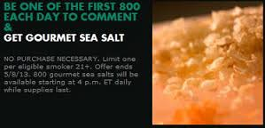 free sea salt from marlboro