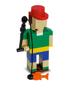free lego fisherman build