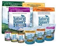 free natures balance dog food