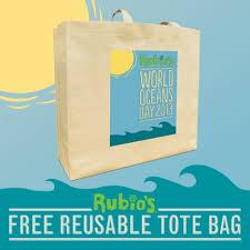free rubios tote bag
