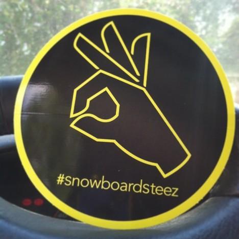 free snowboard sticker