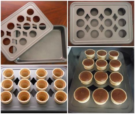 5 Ice Cream Cone Cupcake Pan Collage